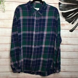 St John's Bay Plaid Long Sleeves flannel shirt XL